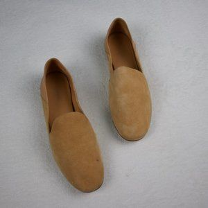 New Vince Suede Leather Tan Loafer Flats